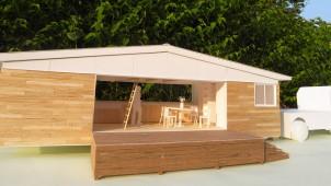 常設可能な仮設住宅を提案 トレーラーハウス活用して供給