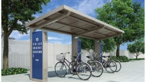LIXIL PVパネルで電動アシスト自転車を充電する駐輪場を発売