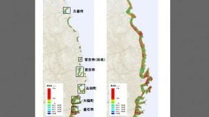 岩手県沿岸部 地盤沈下で海抜1・2メートル地帯が8キロ平米増加