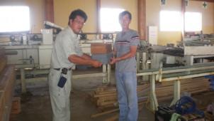 新建新聞社の大工道具支援、第3回は宮城県石巻市に