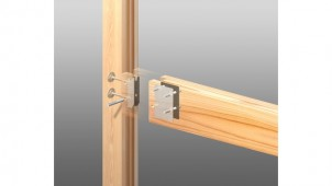 中国木材とカネシン、無垢材仕様低コスト金物工法を開発