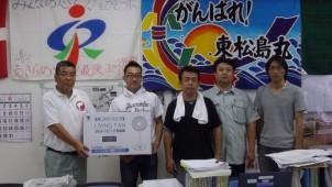 熊本と愛知の工務店、被災地・東松島市に扇風機30台