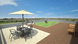 既存マンション・ビルの屋上庭園+防水改修を従来比1/3のコストで