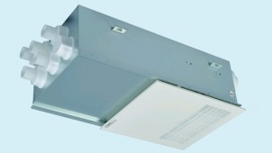 三菱電機、換気システムの温度交換効率を改善