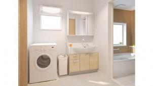 ハウステック、普及価格帯洗面化粧台の扉に新色