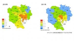 台東・墨田・江東の3区で賃貸住宅の新規供給トレンド移る