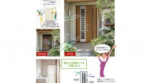 LIXIL、1日でリフォームできる玄関ドアを提案