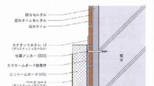 タイル落下防止+外断熱を両立する改修工法