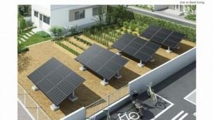 積雪地域対応の地上設置型太陽光発電システム