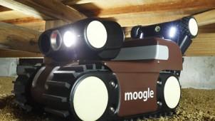 床下などを遠隔操作で点検できるロボット