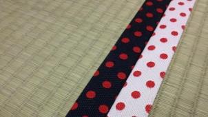 水玉模様の畳縁 高田織物