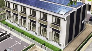 レオパレス、5000棟の賃貸アパートに太陽光設置
