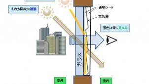 夏は遮光、冬は透過。窓に張るだけで太陽光を自動調光するシート開発 産総研×住友化学