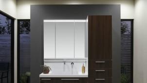 TOTO、掃除しやすい「すべり台ボウル」を採用した洗面化粧台