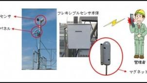 風速・足場のズレをセンサーで検知、アラームでお知らせ