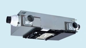 三菱電機、浴室暖房機連動型セントラル換気システムの温度交換効率を向上