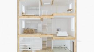 無印良品の家、たてに広がる都市型3階建ての新商品