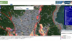 地盤ネット、「地盤安心マップ」に自治体液状化ハザード情報と活断層情報を追加
