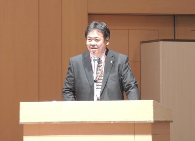 意気込みを語る森田靖英代表