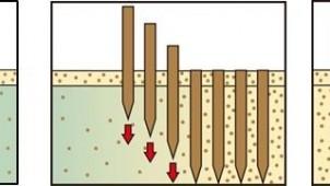 丸太を使った液状化対策工法を開発