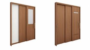 LIXIL、狭い間口で広い有効開口を確保する上吊連動引戸