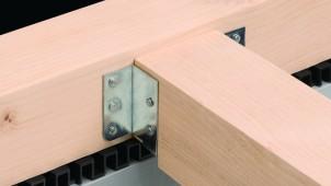 枠組壁工法の床暖房設置に対応する大引き受金物