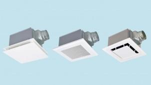 高効率モーター搭載、風量+施工性を両立するダクト用換気扇