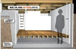 ハイアスx司コーポレーション、基礎型枠設置と同時に地下室がつくれる新工法