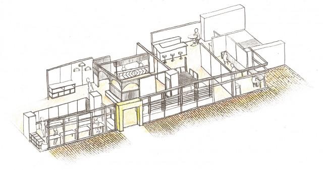 玉川高島屋S・Cガーデンアイランド1階にオープン。ホームページから好みのワークスペースを予約、来店し作業する。収容人数は最大30人。営業時間10:00〜20:00。