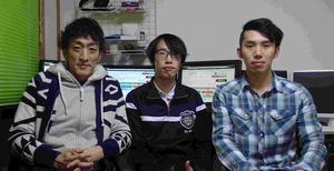 写真左から、内山達雄さん、齋藤実さん、湯本明信さん