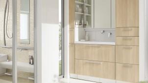 TOTO、洗面台「オクターブ」に木目柄5色を追加