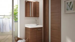 LIXIL、奥行370ミリのコンパクト洗面を発売