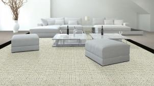 川島織物セルコン、タイルカーペットとビニル床タイルの新作発表