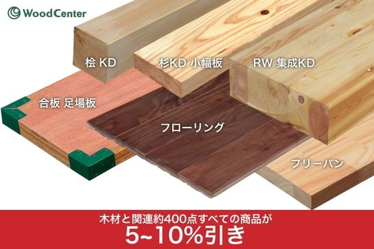 「WoodCenter」1周年キャンペーン