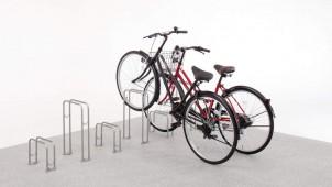 三協アルミ、シンプルなステンレス製自転車ラックを発売