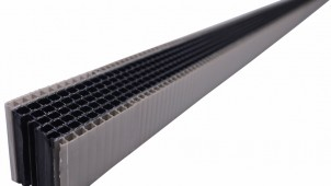 3サイズの通気層に対応する、新発想の壁下通気材