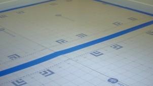 メジャーデザインが便利な床・廊下用養生材