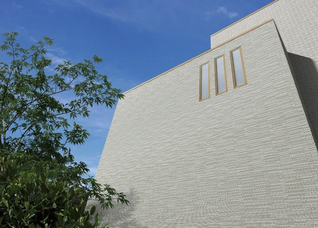 「ハルプラスシリーズ 細波」は、きめ細やかで流れるような陰影が特徴。1万5700円/m2