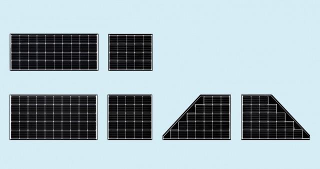 6月20日に発売する単結晶無鉛はんだ太陽電池モジュール「マルチルーフ245Wシリーズ」。3月2〜4日に東京ビッグサイトで開催される「スマートグリッドEXPO2016」に出展する。