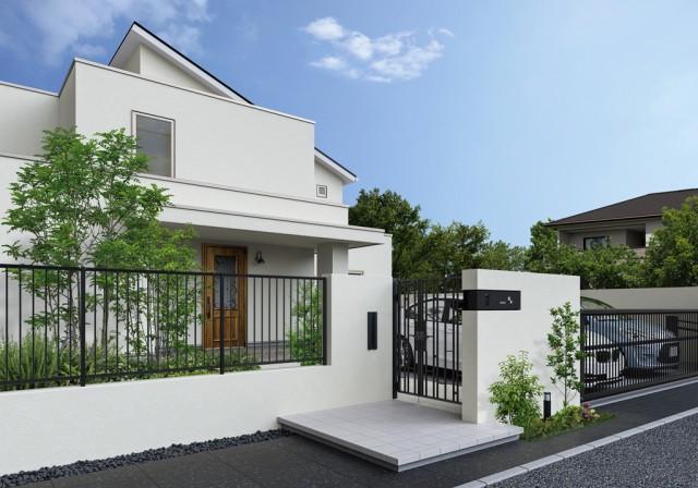 「シャローネ」門扉、フェンス、アップゲート施工イメージ。