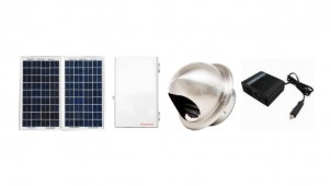 防災倉庫用の簡易な換気・照明・電源システムを発売