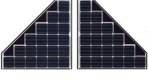 パナソニックの「太陽電池HIT」、寄棟の発電量増やす台形タイプ