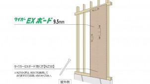 吉野石膏、シンプルな防火構造を実現するせっこう系外壁下地用面材を開発