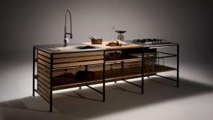 ウッドワン、鉄フレーム+棚板の超シンプルなキッチン発売