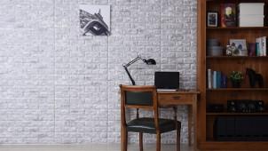 DIY初心者でも貼れるシートタイプのレンガ調壁紙