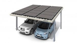 コンパクトで施工しやすい、発電するカーポートを発売
