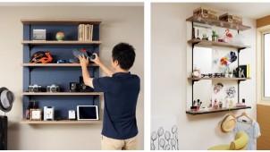 デザインアーク、4ステップで施工できる壁面収納を発売