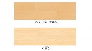 大建工業、土足対応WPC床材に「ハードメープル」と「ひのき」