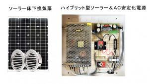 ソーラー発電・商用電源どちらにも対応する床下換気扇を発売