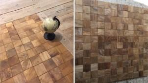 男前インテリアに合う、床・壁用の木製タイルを発売